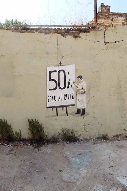 Street Art Pieces By Escif In Barcelona, Spain. 50% special offer