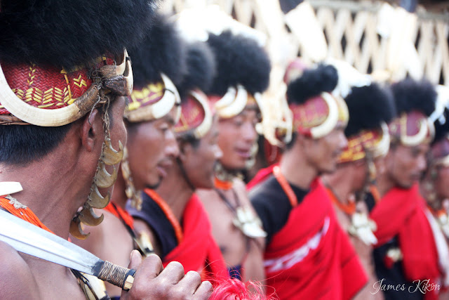 Khiamniungan Naga tribesmen perform traditional dance in costumes at Nagaland Hornbill Festival 2015 2