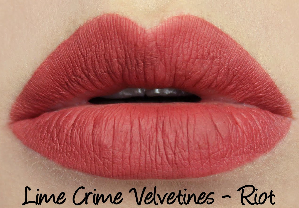 Lime Crime Velvetines - Riot Swatches & Review