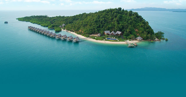 Penginapan terapung Telunas resorts private island