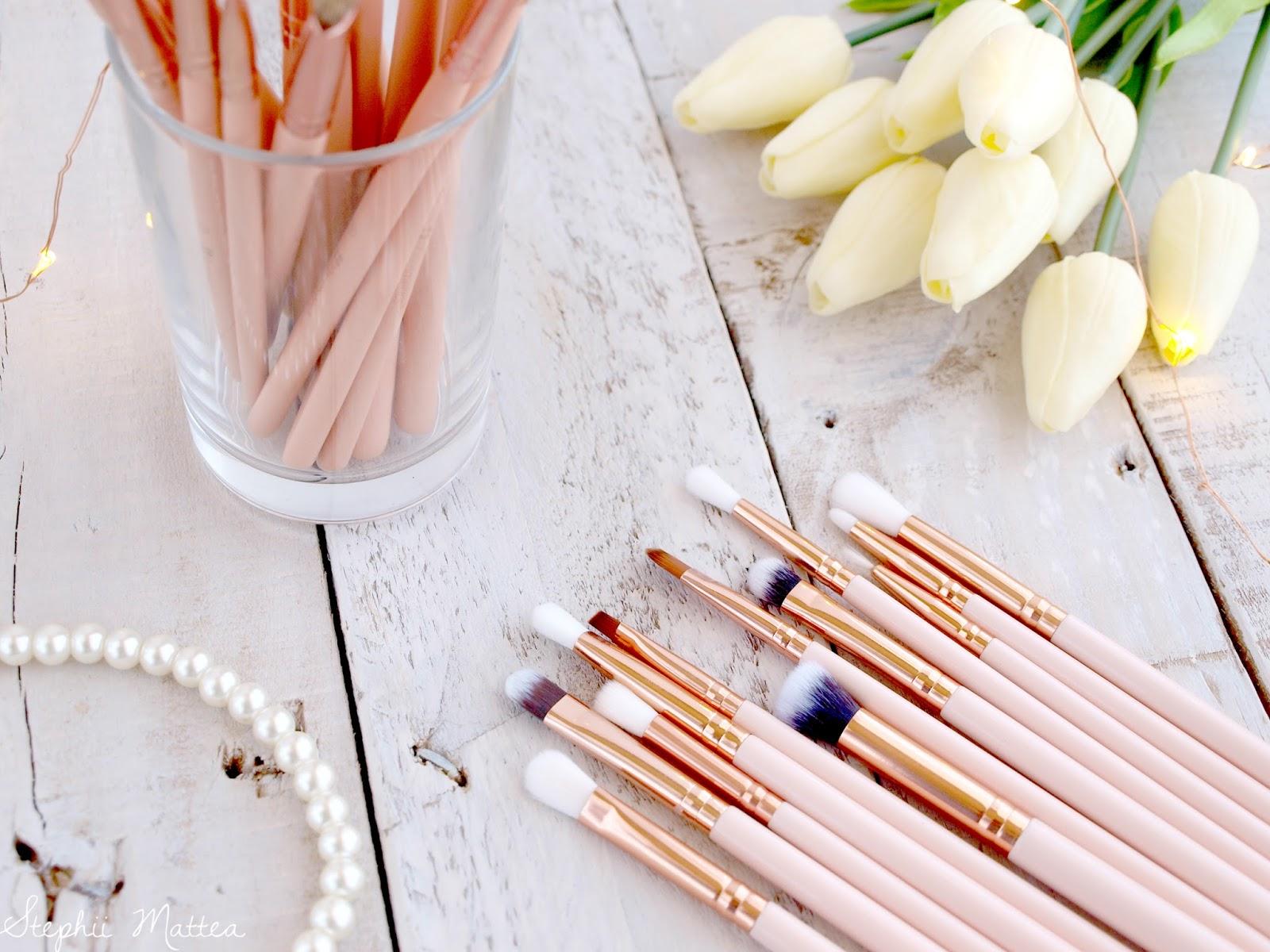 313893f026af2 Zoeva Rose Golden Brush Dupes vs BH Cosmetics BH Chic Brush Set ...