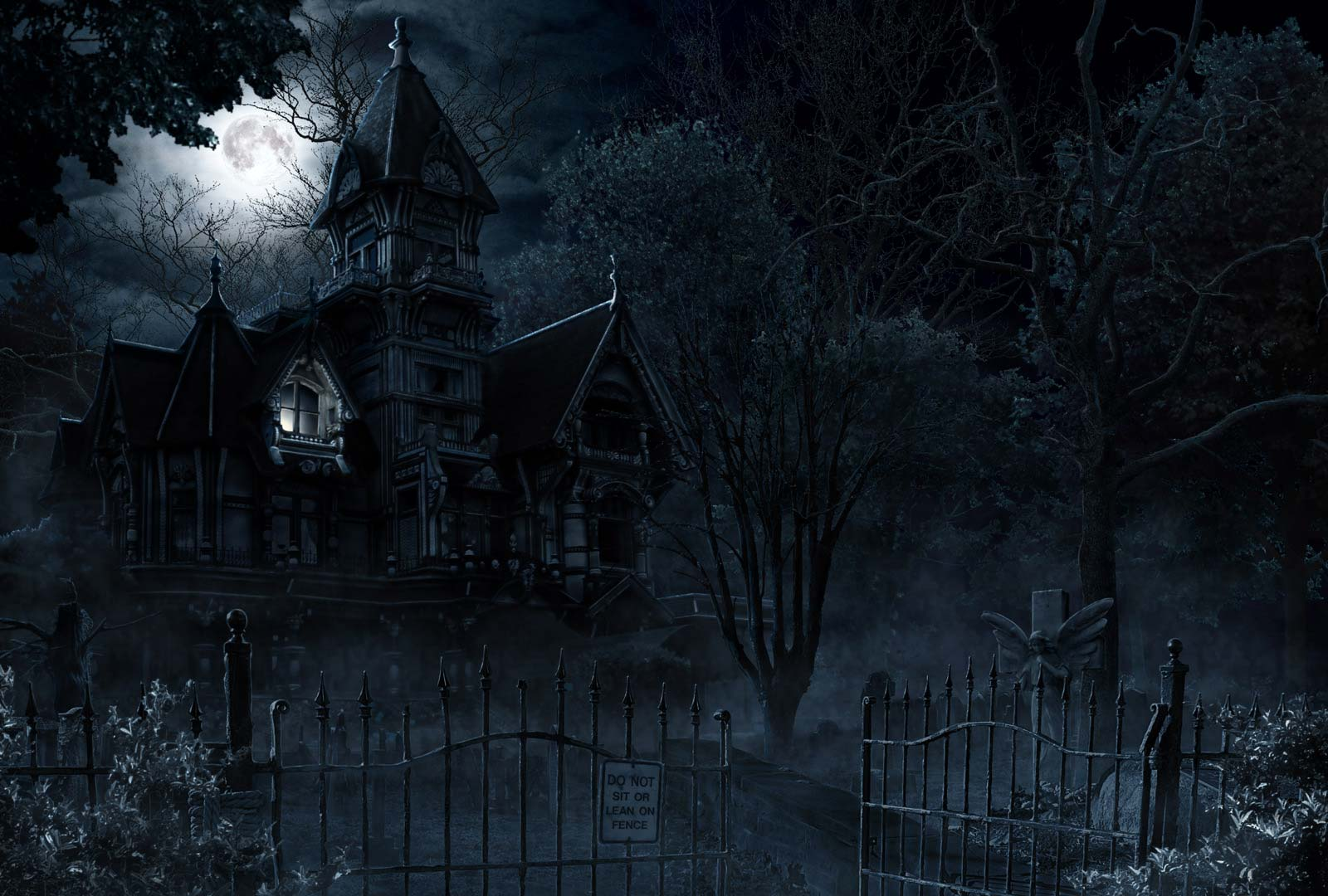 Dark Fantasy Background Wallpaper 2018 Nr58: Haunted House And Mansion (Ghost
