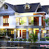 European mix sloping roof 4 bedroom home