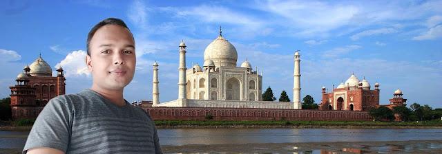Mohit Kumar Yadav at Taj Mahal Agra