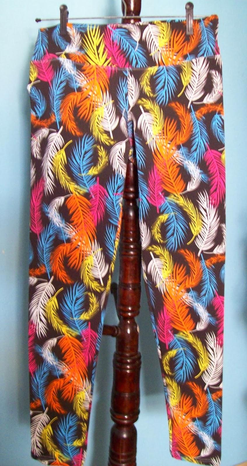 Calça legging estampada com elastano Tamanho G