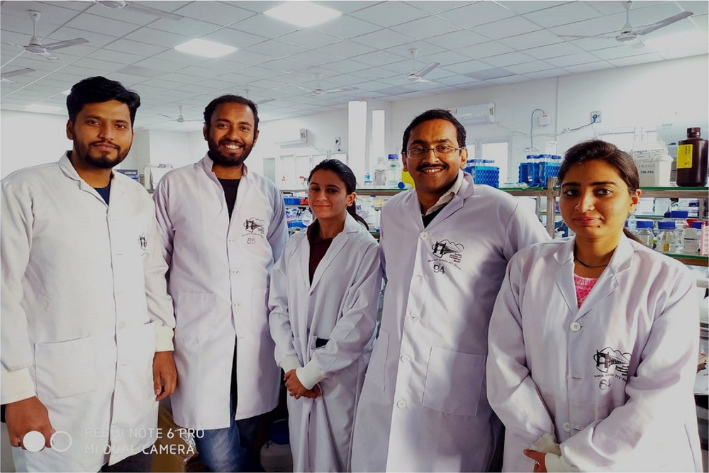 Zinc supplementation suppresses fat deposition in the liver - (4th from left) Dr. Prosenjit Mondal, Assistant Professor, School of Basic Sciences, IIT Mandi along with research scholars