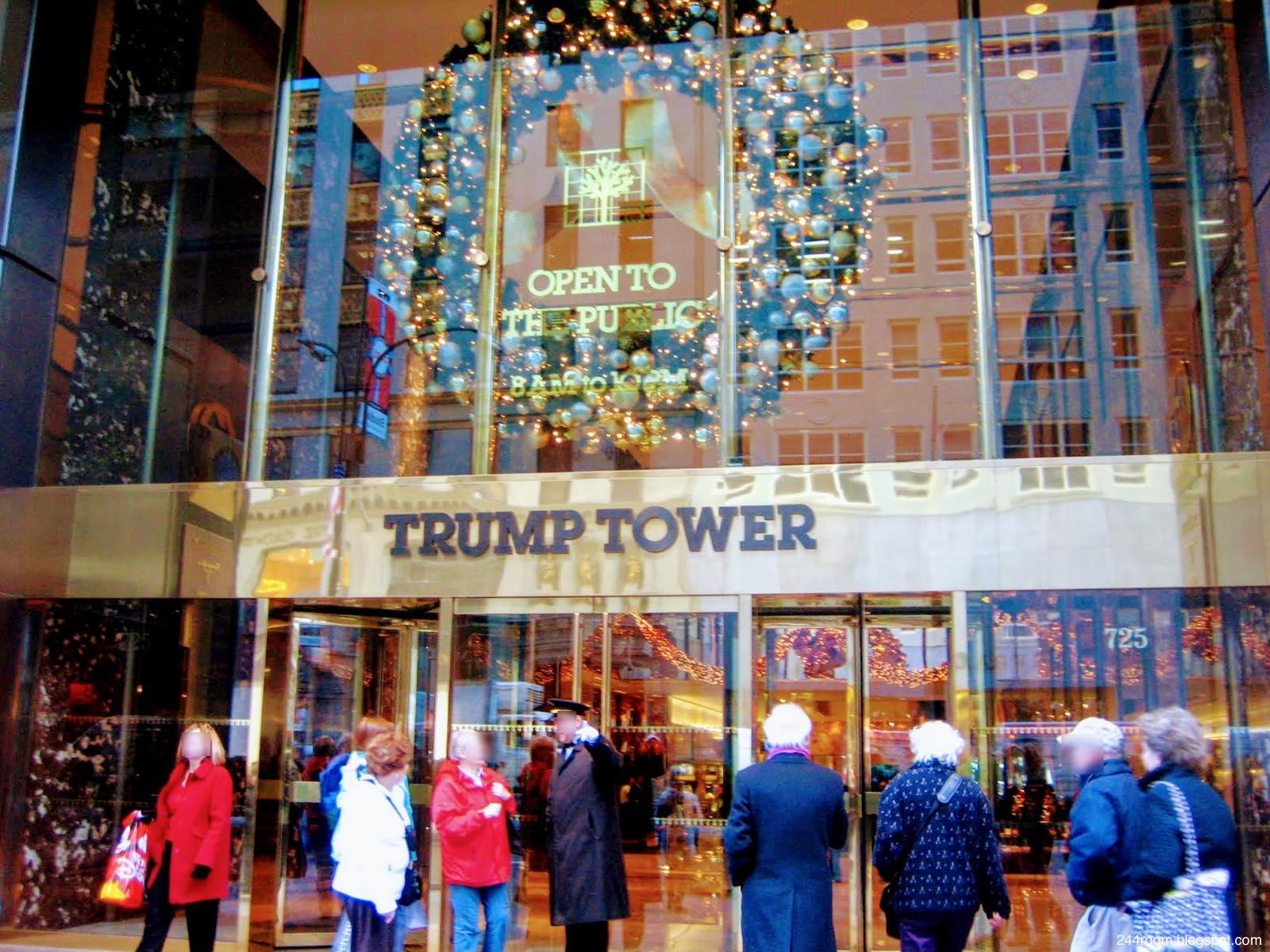 トランプタワーエントランス TRUMP TOWER entrance