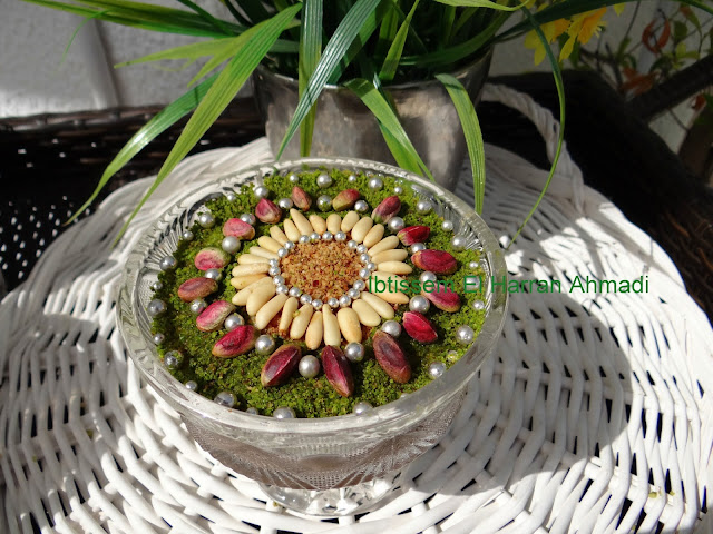 recette assida zgougou «graines de pin d'Alep » mouled recette tunisienne