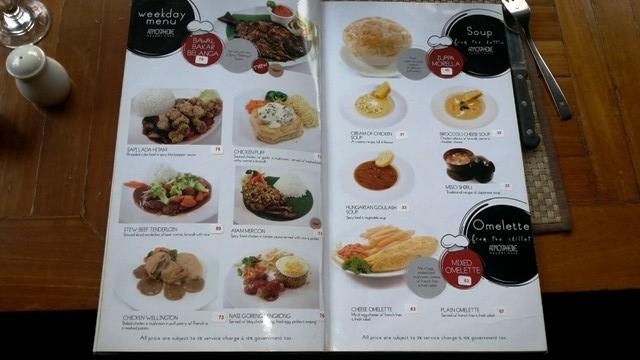 Buku Menu - Atmosphere Resort Cafe