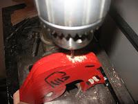 Drill 3/16 inch hole 1 inch deep