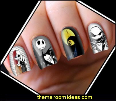 Nightmare Before Christmas Decals Transfers Flakes Wraps Foils Nail Wrapping