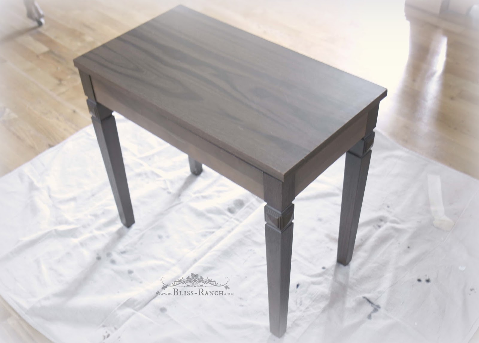 Painted and lettered Piano Bench redo Bliss-Ranch.com