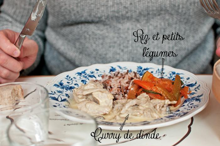 curry de dinde, riz et petits légumes au Restaurant le clou de girofle à Caen
