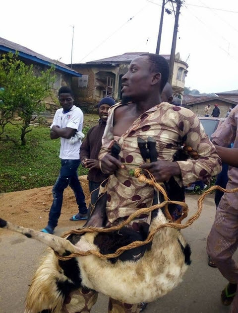 Man Caught Stealing Ram Ahead Of Sallah Celebrations Paraded Publicly In Osun (Photos)