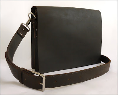 Mens Leather Messenger Laptop Bag