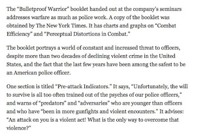 Bullet Proof Warrior - an article in the New York Times