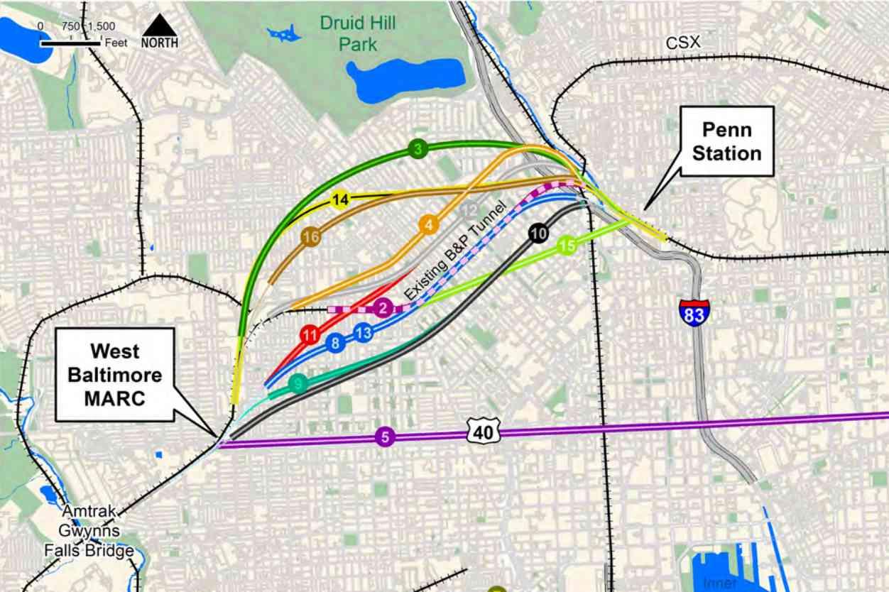 alternatives for a amtrak northeast corridor tunnel alignment