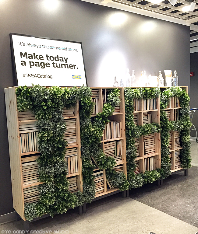 #IKEAcatalog, greenery, bookcase, decor ideas, IKEA west chester