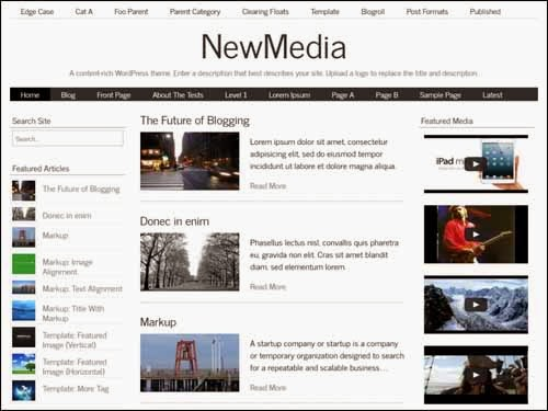 NewMedia Free WordPress Theme