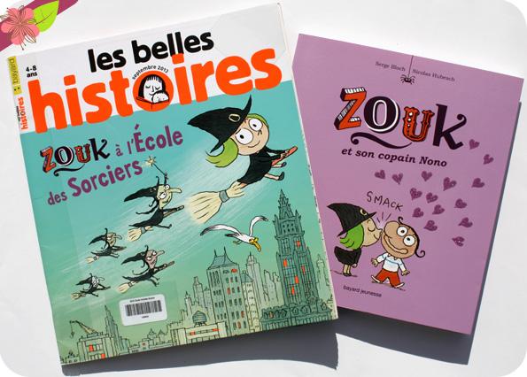 """""""Zouk à l'école des sorciers"""" et """"Zouk et son copain Nono"""" de Serge Bloch et Nicolas Hubesch"""