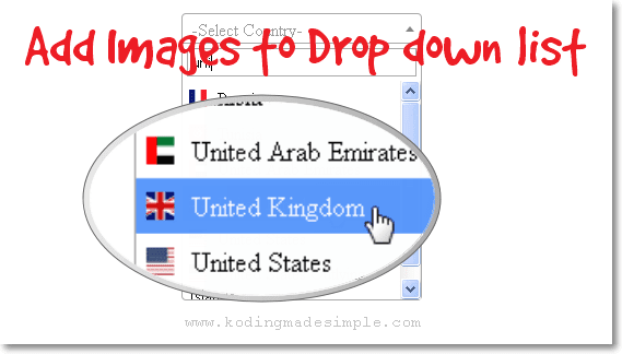 jquery add images to dropdown list