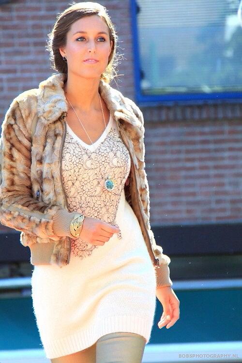 Faux fur for fall streetstyle fashion