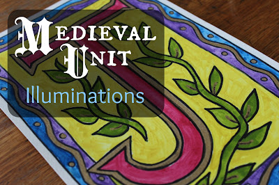 Medieval Unit: Illuminations {a video of how a book was made in the middle ages, book links, and a DIY