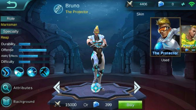 Gear Bruno Mobile Legends