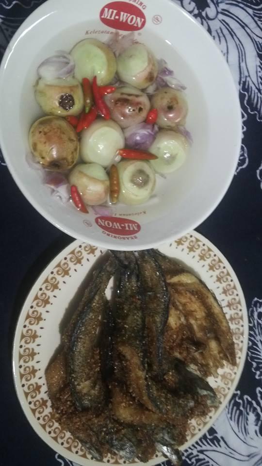 buah kalangkala ikan asin
