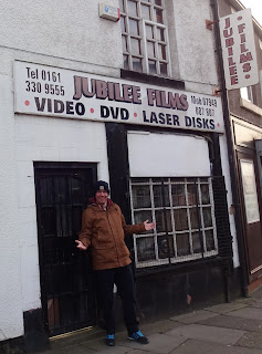 At the out-of-business Jubilee Films video, DVD and Laser Disk shop in Ashton-under-Lyne