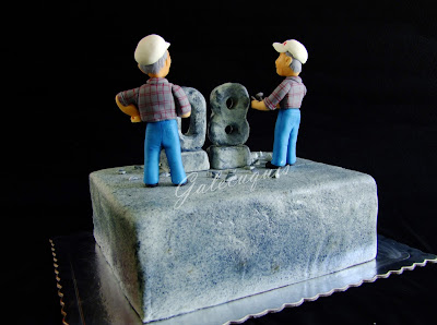 Tarta bloque de piedra
