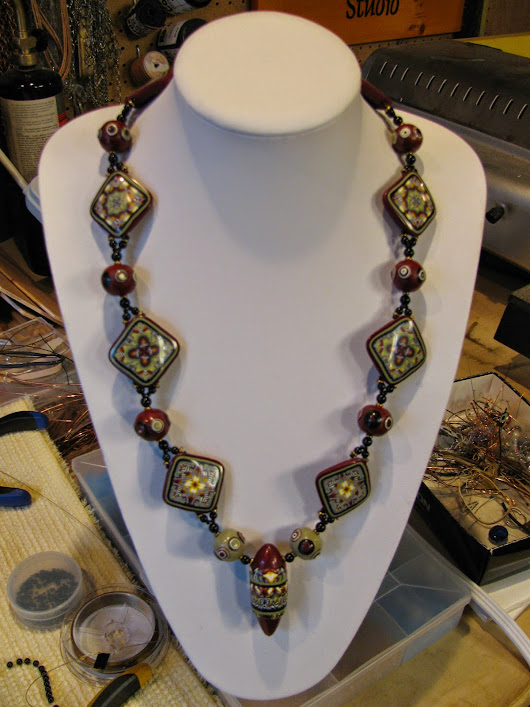 Wine Country Tessellated Necklace and Bracelet