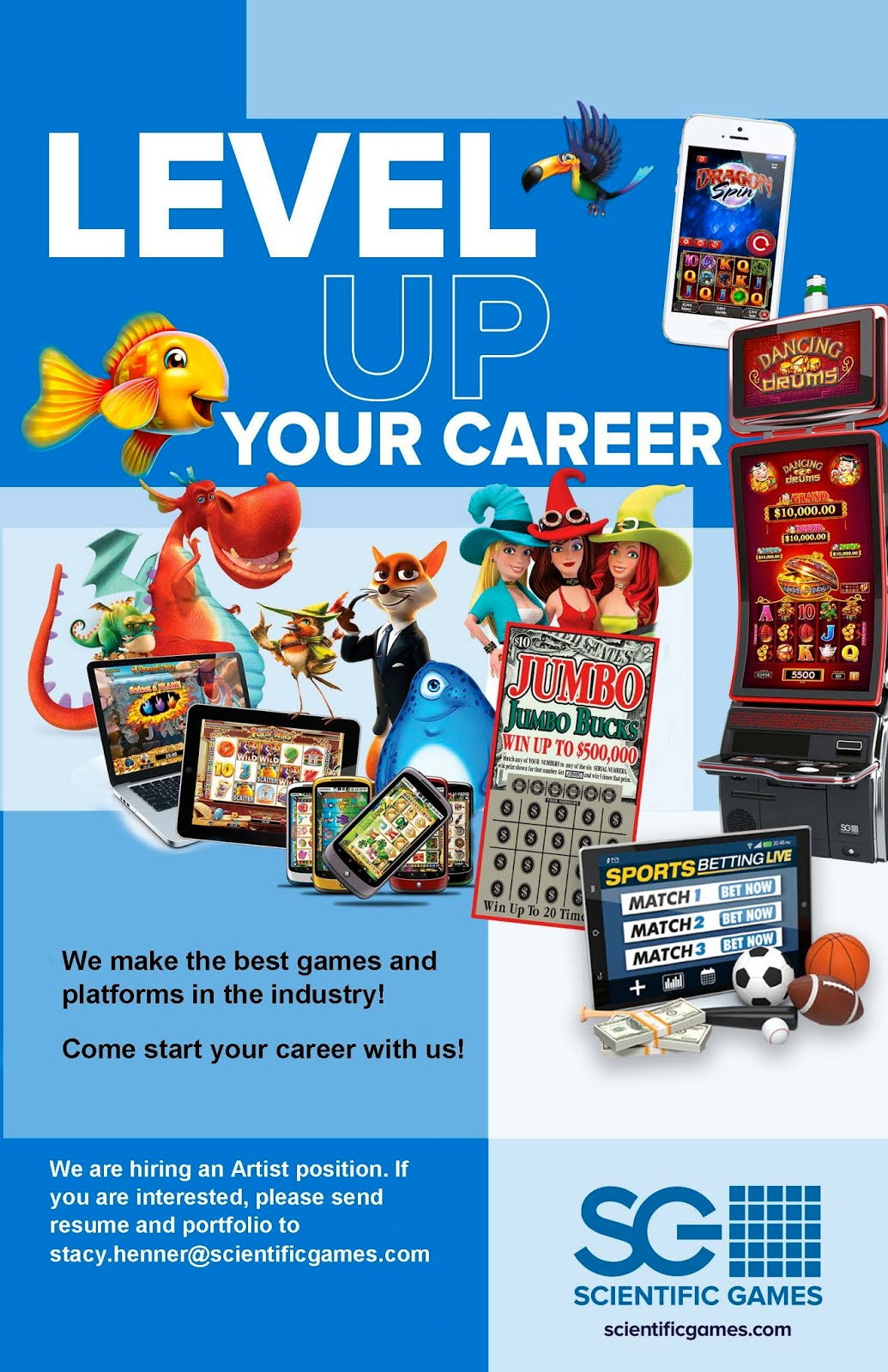 American Academy Of Art College Career Services Game Artist Scientific Games