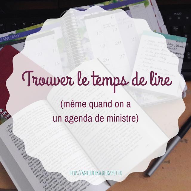 Trouver le temps de lire (même quand on a un agenda de ministre !)