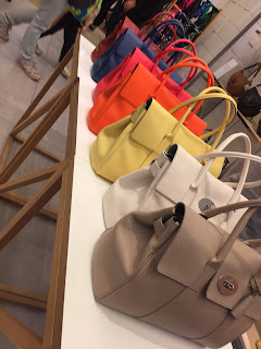 Row of Mulberry Bayswaters at Bicester Village