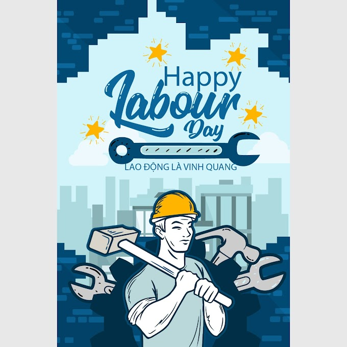 Posters celebrating international labor day are glorious free vector