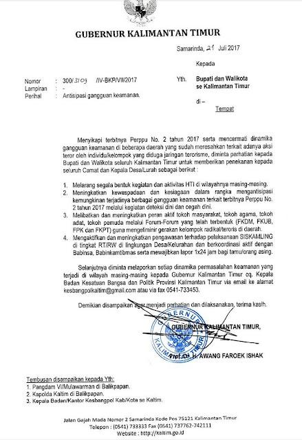 Gubernur Kaltim Larang Semua Kegiatan HTI di kalimantan Timur, Gubernur Lain Kapan?