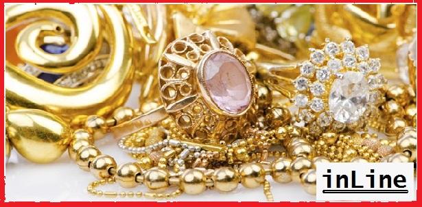 perhiasan emas, perak dan berlian
