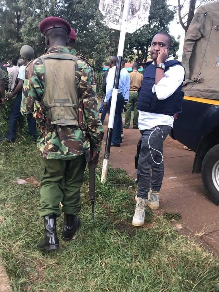 Shame! Steve Mbogo Shows Up At Riverside To Show Off Guns