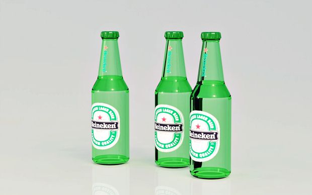 Botellas de Heineken con Solidworks