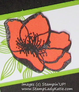 Image from Stampin'UP!'s Beautiful Promenade stamp set, heat embossed with Memento Ink and Clear Embossing Powder