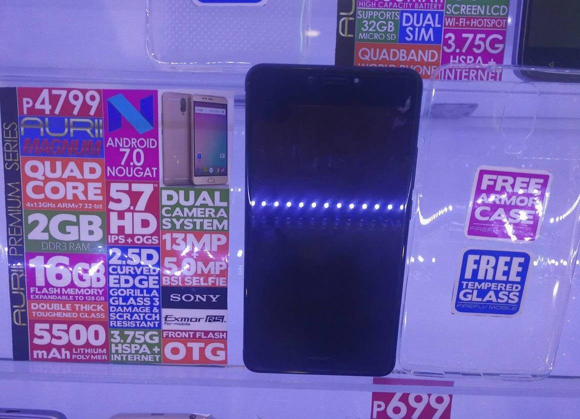 Firefly Mobile Aurii Magnum, Android Nougat with Dual Rear Cameras and 5500mAh Battery for Only Php4,799