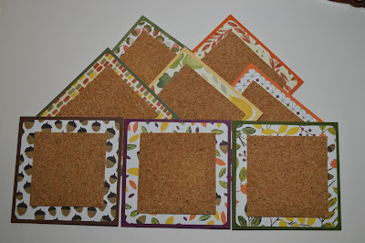Tuesday Tutorial, Stamp with Trude, Stampin' Up!, fall, autumn, coasters, Into the Woods