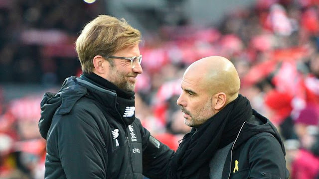 Manchester City Pep Guardiola And Liverpool Jurgen Klopp