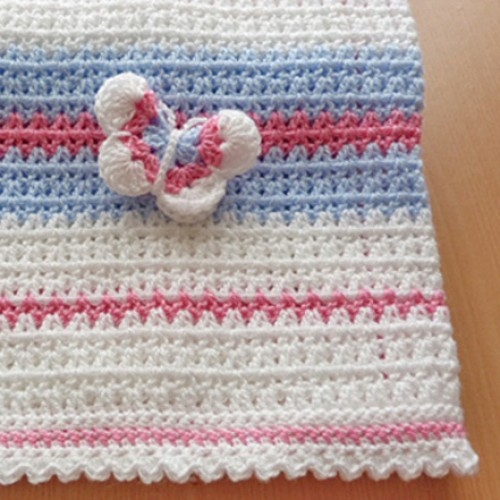 Crochet Butterfly Baby Blanket - Free Pattern