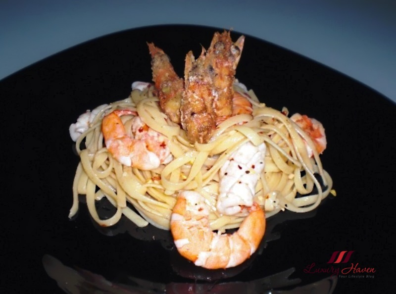 tasty twin prawn seafood linguine recipe