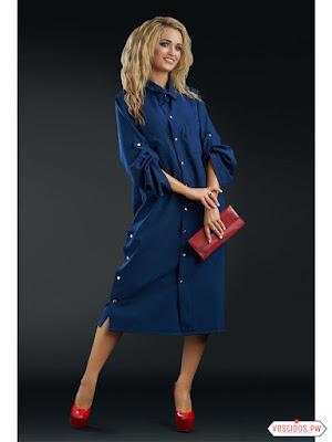vestidos color azul de fiesta largos