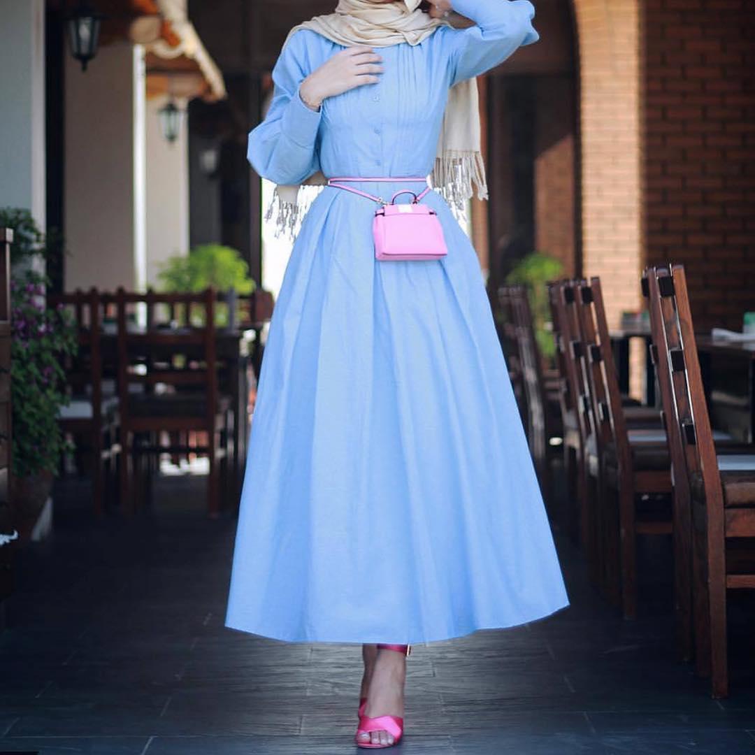 Robes Style Fashion Chic Hidjab Longues Hijab 2018 And rtsdChQx