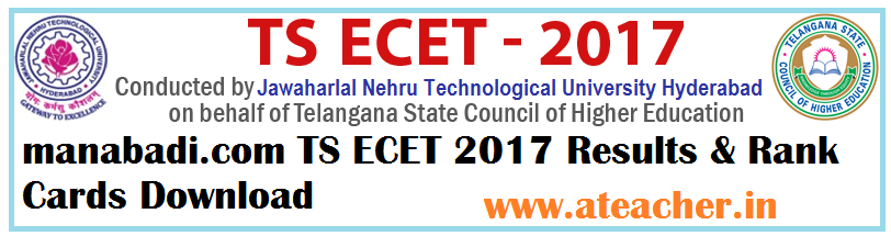 manabadi.com TS ECET 2017 Results & Rank Cards Download