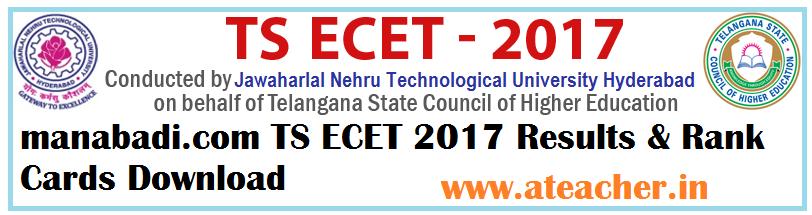 manabadi.com TS ECET 2017 Results & Rank Cards Download
